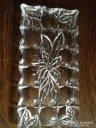 Öntött üveg tálca 26 x 13 cm