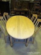 Tölgy asztal + 4db szék