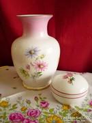 Hollóházi porcelán váza  és Alföldi bonbonier