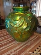 Zsolnay sinko eozin nagy váza