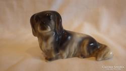 Drasche porcelán kutya szobor