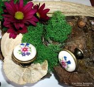 SZÍNES virágos porcelán fogantyú  -  csak 300 Ft / db
