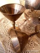 Ezüstözött pohár párban