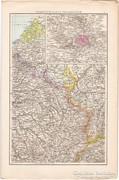 Északkelet -  és Délnyugat - Franciaország térkép 1887
