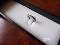 Ezüst gyűrű kőberakással