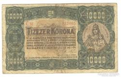 10000 korona 1923 I. Eredeti
