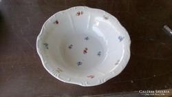 Zsolnay apró virágos főzelékes, tésztás  tál