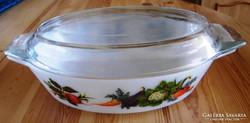 Jénai fedeles tálaló, sütő tál 30 x 20 cm