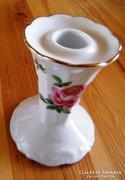 Angol porcelán gyertyatartó 11 cm