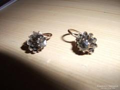 Antik gyémánt köves fülbevaló