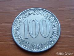 JUGOSZLÁVIA 1000 DINÁR 1987