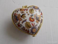 Porcelán ékszertartó szív