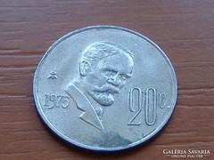 MEXIKÓ MEXICO 20 CENTAVOS 1975