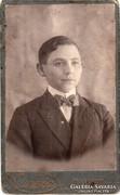 Régi portré fotó, vizitkártya - Hunnia - cca. 1900