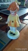 Bodrogkeresztúri katicás kerámia kislány