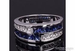 Kék köves, nagyon dekoratív női gyűrű 6-os ÚJ!