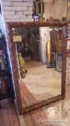 Nagy méretű metszett tükör fa képkeret