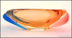 3 színű Cseh üveg  hamutál