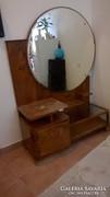Art Deco fésülködő szekrény, asztal, óriási tükörrel