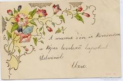 Virágos népnapot, dombornyomású lap, 1900. okt.