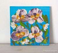 Virágos-modern kis festmény 23