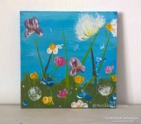 Virágos-modern kis festmény 24
