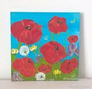Virágos-modern mini festmény 38