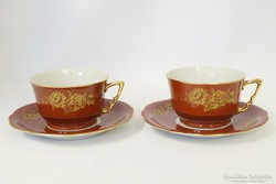 Ritka Zsolnay kávés vagy teás csészék párban