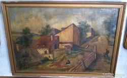 Király Béla (1902-1985): Falusi utca részlet