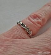 Pici antik markazitos ezüstgyűrű