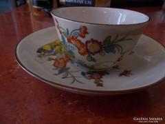 Meisseni virágmintás régi csésze és csészealj
