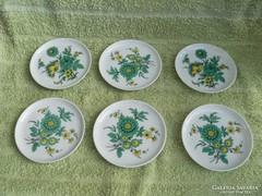 6 db Kaiser  porcelán poháralátét, tányérka