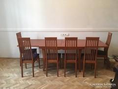 Calligaris olasz ebédlő étkező garnitúra asztal + 6 szék