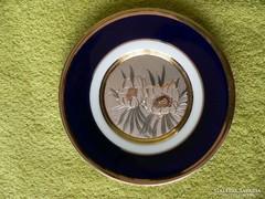Chokin porcelán dísztányér
