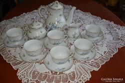 Zsolnay teáskészlet barackvirágos