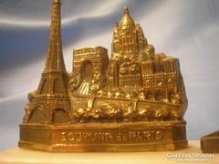 Párizs Bronz levél fényképtartó ,márvány talpon