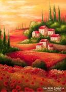 Mediterrán táj Festmény