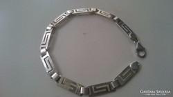 Ezüst Görögmintás karlánc, karkötő 925