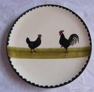 Körmöcbányai kakasos majolika tányér!30 cm