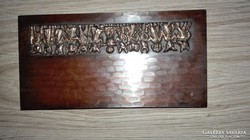 Bronz figuras ipar muveszeti doboz