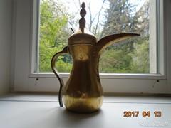 BEDUIN-DALLAH-szignós-antik iszlám kávé kiöntő-30 cm-950g