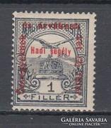 1915 Hadisegély II. 1 Fillér Postatisztán (A104)