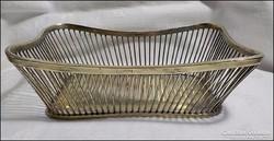 Antik ezüst kosár , kínáló súly 343 gramm