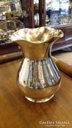 Ezüst kézzel kalapált váza