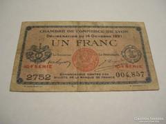 1 Franc 1921 Lyon