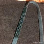 Swarovski kövekkel díszített bőr nyaklánc,nyakpánt eladó
