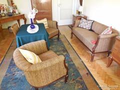 Antik kanapé (ülőgarnitúra) 2 fotellal