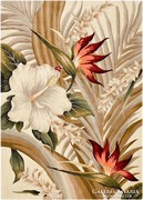 Gyönyörű, hibátlan, virágos kézi tűzésű gyapjú szőnyeg