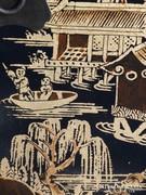 Gyönyörű kézzel festett fa kínai éjjeliszekrény