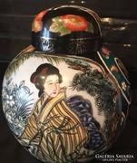 Kínai  24 k arannyal bevont porcelán